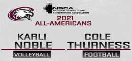 Two Eagles Named NSCA All-Americans