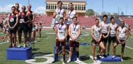 Eagles' Men Win Both Relays At RMAC Meet