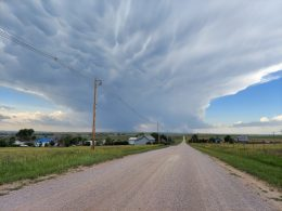 Severe Weather Drops Large Hail In Sioux County