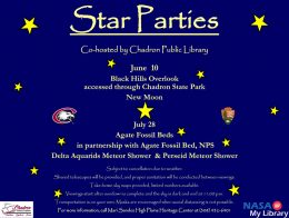 Star Party Tonight At Agate Fossil Beds NM