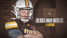 Wyoming's Hoyland On Lou Groza Award Watch List