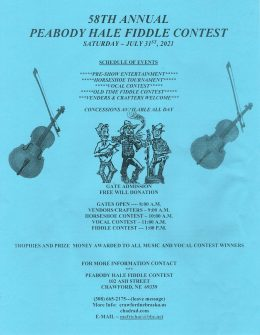 A Few Changes As The Peabody Hale Fiddle Contest Returns After COVID Hiatus