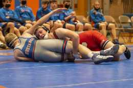 Freeseman Is Lone Mustang Left At State
