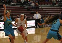 Lady Eagles Start Slow In Loss To Skyhawks