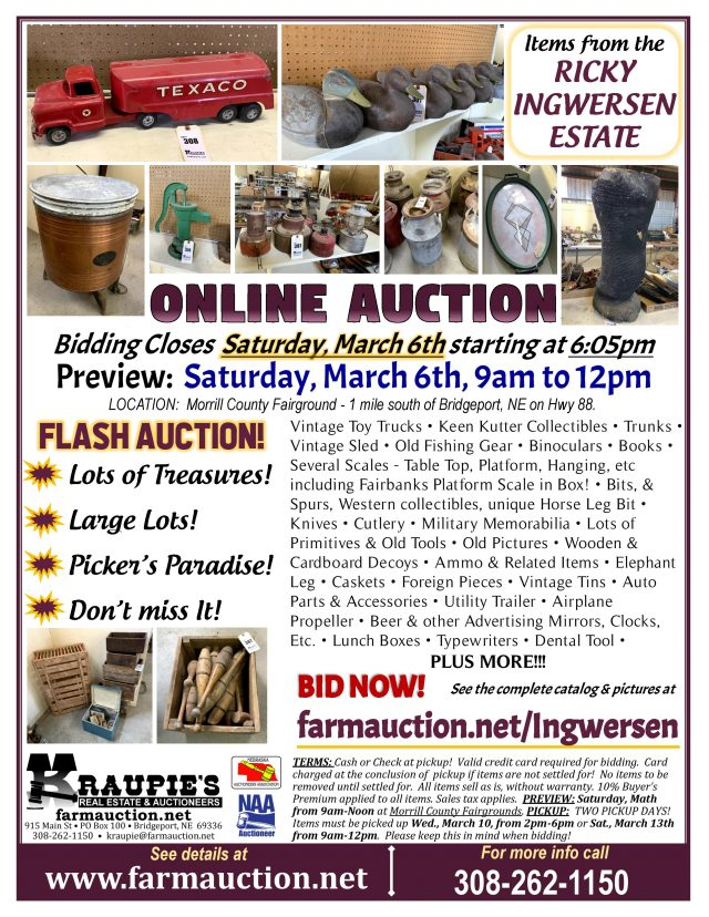 Ingwersen Estate Online Auction