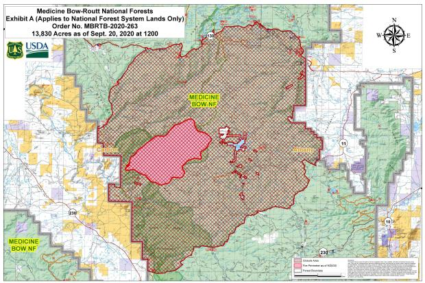 SE Wyo Fire Tops 21 Sq Miles, Forces Evacuations
