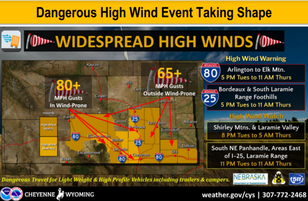 Widespread Strong Wind Event Taking Shape Tue-Thu