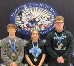 Cardinal Wrestling Trio All Take 2nd At Black Hills Nationals